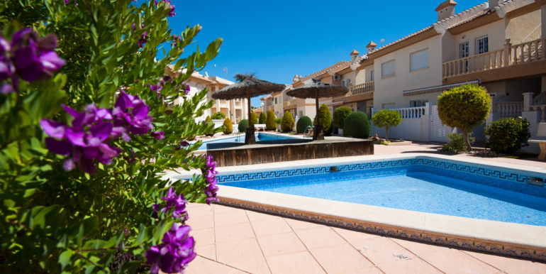 Private communal pool and garden area